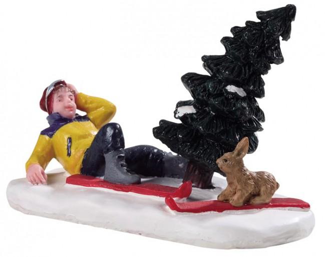 Noël dog dans Snow 52346 248 LEMAX personnages