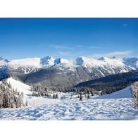 My Village Arriere Plan - Mountain 78X58cm