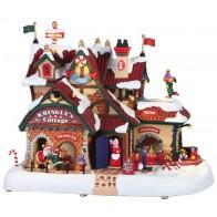 Lemax Maison Du Père Noël + 4,5 Volt Adaptateur
