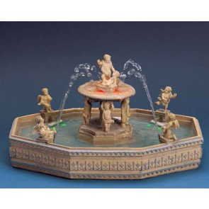 Lemax Lighted Village Square Fountain + 4,5 Volt Adaptateur