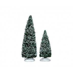 Lemax Snowy Juniper Tree, Medium & Small