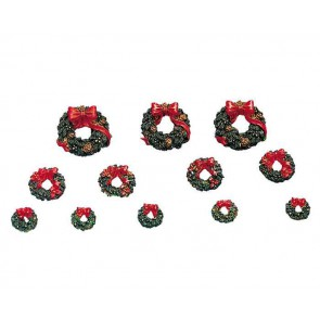 Lemax Wreaths With Red Bow