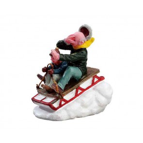 Lemax Sledding With Gramps