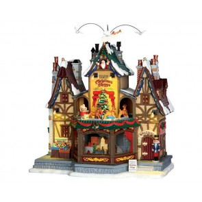Lemax Holiday Hamlet Christmas Shoppe + 4,5 Volt Adaptateur