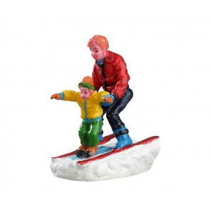 Lemax Father & Son Skiing