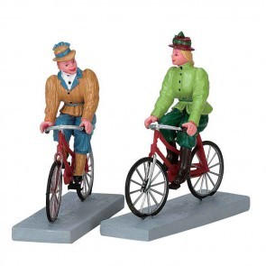 Lemax Bloomers And Bicycles