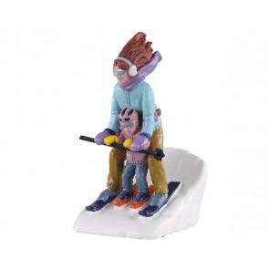 Lemax Maman Et Moi Au Ski