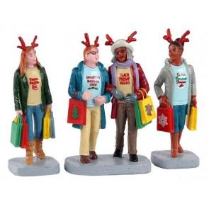 Lemax Magasinage De Noël Entre Filles