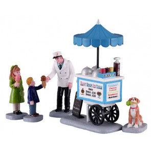 Lemax Chariot À Crème Glacée