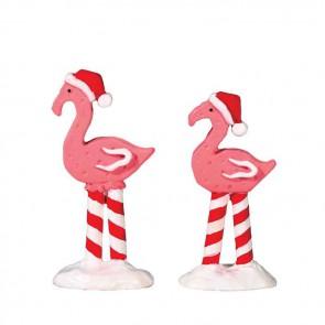 Lemax Pink Flamingos