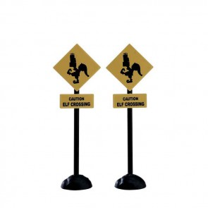 Lemax Elf Crossing Sign