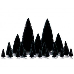 Lemax Assorted Fir Trees 21 pc