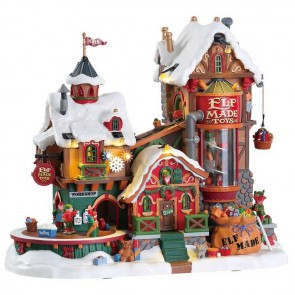 Lemax Elf Made Toy Factory + 4,5 Volt Adaptateur