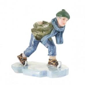 Luville Hendrik on ice skates