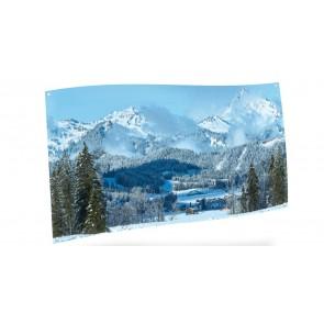 My Village Arriere Plan Textile - Paysage De Montagne 150X75Cm