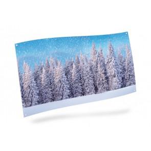 My Village Background Canvas - Snow forest 150X75cm
