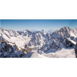 My Village Arriere Plan Textile Sommets De Montagne Xl 300X150Cm