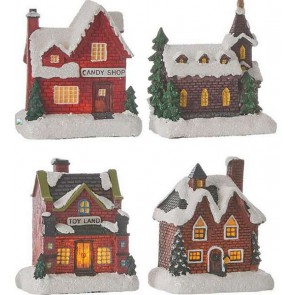 Luville Christmas house 4 Assorted