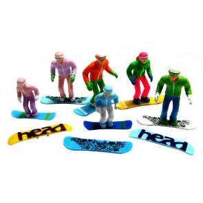 Jägerndorfer standing figures 5 x + snowboard