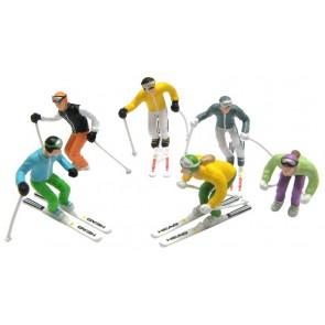 Jägerndorfer standing figures 6 x  + ski's